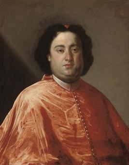 Portrait of Cardinal Annibale Albani (1682-1751), half-length