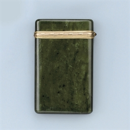 AN ANTIQUE NEPHRITE CASE, BY K