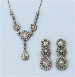 A DIAMOND DEMI PARURE