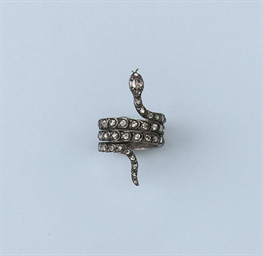 AN ANTIQUE DIAMOND SNAKE RING