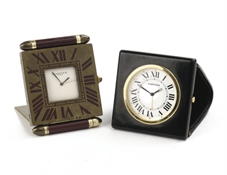 TWO TABLE CLOCKS, BY CARTIER