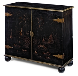 A REGENCY GILT AND BLACK JAPAN