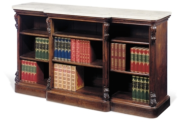 A VICTORIAN ROSEWOOD BREAKFRON