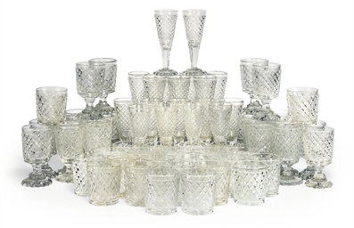 A SUITE OF ENGLISH CUT-GLASSWA