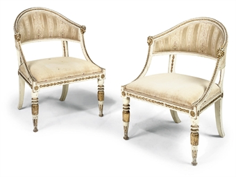 A PAIR OF SWEDISH PARCEL-GILT