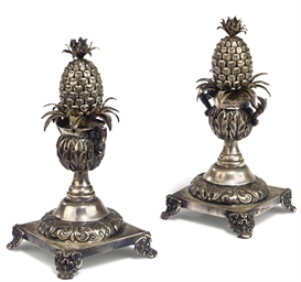 A PAIR OF PORTUGUESE SILVER TO