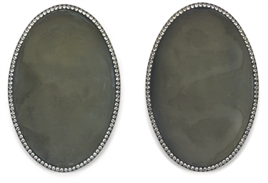 A PAIR OF IRISH CUT-GLASS OVAL