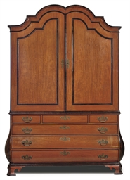 A DUTCH SATINWOOD MAHOGANY AND