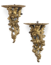 A PAIR OF WILLIAM IV GILTWOOD