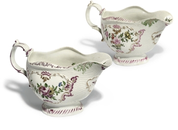 TWO WORCESTER BASKET-MOULDED O