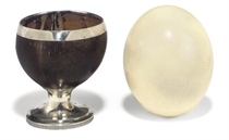 A GEORGE III SILVER-MOUNTED COCONUT CUP