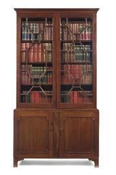 A MAHOGANY LIBRARY BOOKCASE