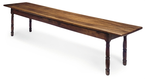 A LARGE FRENCH WALNUT TABLE