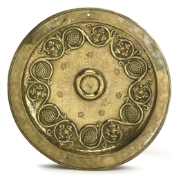 A DINANT OR GERMAN BRASS ALMS