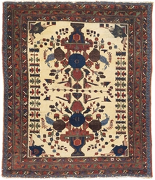 A two antique Afshar rugs