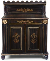 A REGENCY PARCEL-GILT AND SIMU