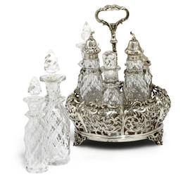 AN EARLY VICTORIAN SILVER SEVE
