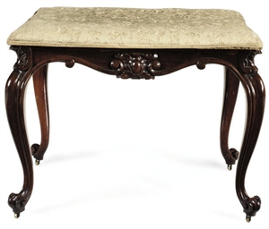 A VICTORIAN ROSEWOOD STAND
