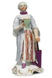 A HÖCHST PORCELAIN FIGURE OF A