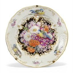 A MEISSEN MOULDED DISH