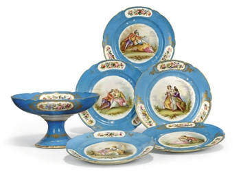 A SEVRES-STYLE PART DINNER SER