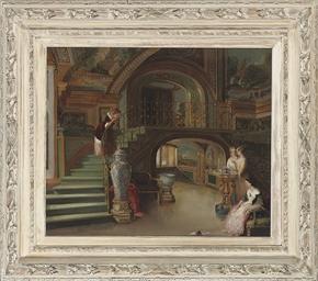 Elegant figures in the Palazzo