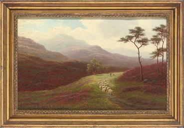 A shepherd on a path