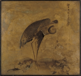 A Heron (recto); and A bird of