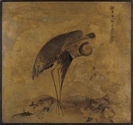 A Heron (recto); and A bird of