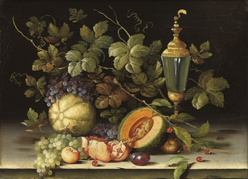 Apples, plums, grapes and pear