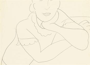 Femme avec bras croises