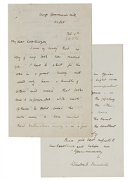 CHURCHILL, Sir Winston Spencer (1874-1965) Autograph letter ...