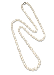 A FINE NATURAL PEARL AND DIAMO