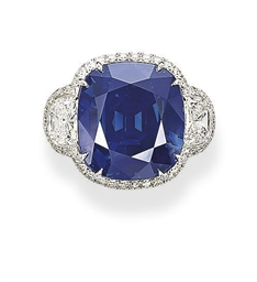 A UNIQUE SAPPHIRE AND DIAMOND
