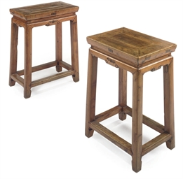A PAIR OF CHINESE YELLOW-WOOD