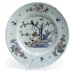 AN ENGLISH DELFT POLYCHROME PL