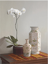 White Orchid and Vases