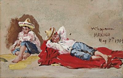 Untitled (Dos niños campesinos