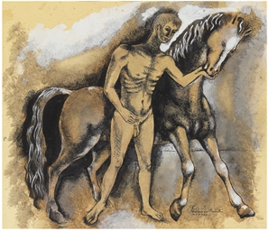 Untitled (Figure with Horse)
