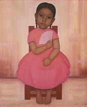 Niña en rosa