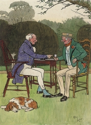 Two gentlemen enjoying a drink