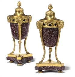 A PAIR OF BALTIC ORMOLU AND PO