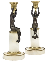 A PAIR OF BALTIC ORMOLU, PATIN