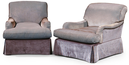 A PAIR OF MODERN UPHOLSTERED S