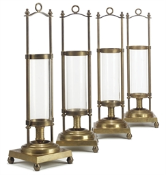 A SET OF FOUR MODERN BRASS STO