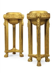 A PAIR OF DANISH GILTWOOD 'GOU