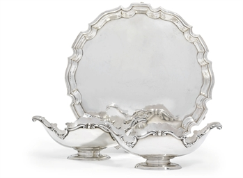 A PAIR OF EDWARD VII SILVER SA