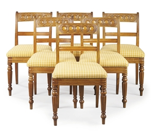A SET OF SIX LATE REGENCY SATI