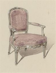 Nine depictions of chairs (one