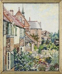 Mill cottage and Catholic chur